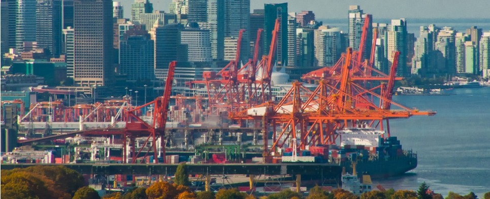 The Port of Vancouver is not more shipments of export cargo and import cargo in international trade.