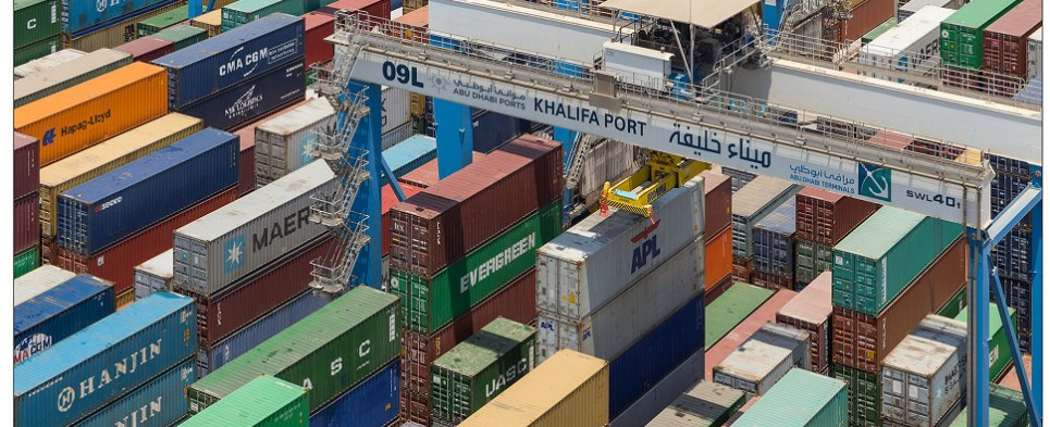 Abu Dhabi Ports are handling more shipments of export cargo and import cargo in international trade.