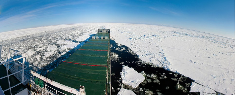 Shipments of export cargo and import cargo in international trade could be moving across the North Pole.