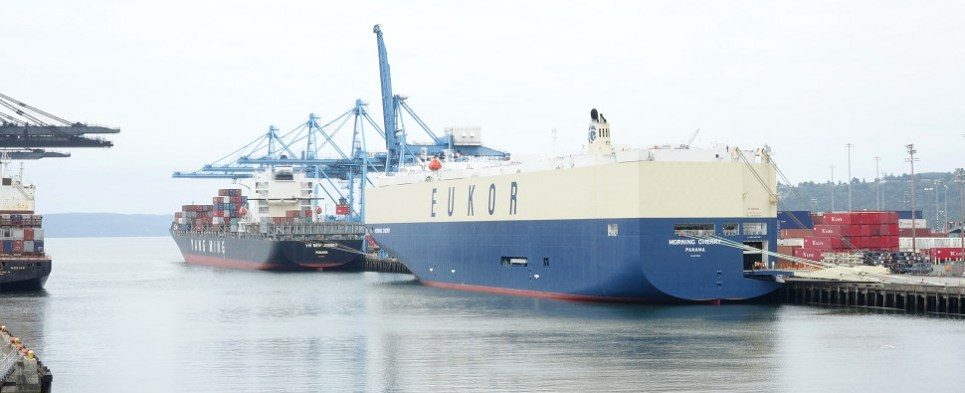 Ocean ro/ro carriers charged with violations of shipping Act while transporting shipments of export cargo and import cargo in international trade.
