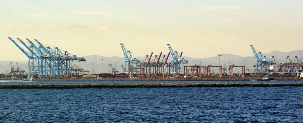 Port of Los Angeles handled more shipments of export cargo and import cargo in international trade in October, the port of Long Beach, less.