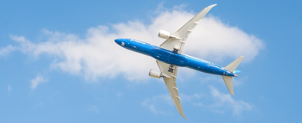 The Boeing 787-9 aircraft offers capacity for more shipments of export cargo and import cargo in international trade.