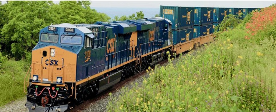 Intermodal network transports shipments of export cargo and import cargo in international trade.