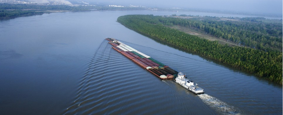 Dredging will allow Mississippi River ports to handle more shipments of export cargo and import cargo in international trade.