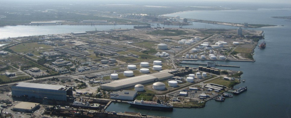 Port Tampa Bay is handling more shipments of export cargo and import cargo in international trade.