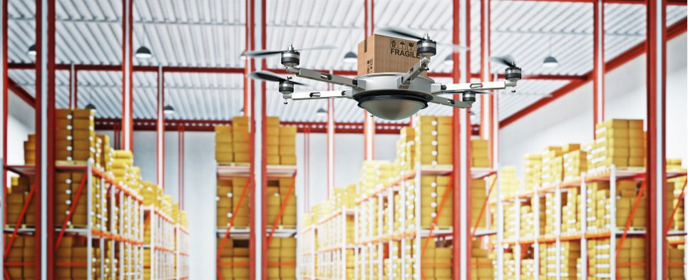 How drones can help with the logistic sof shipments of export cargo and import cargo in international trade.