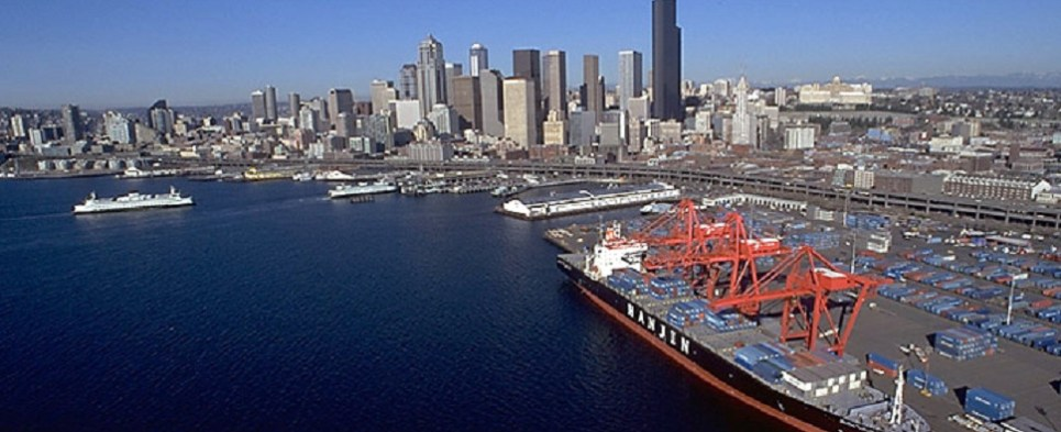 Bankruptcty dispute over Seattle terinal that handles shipments of export cargo and import cargo in international trade.