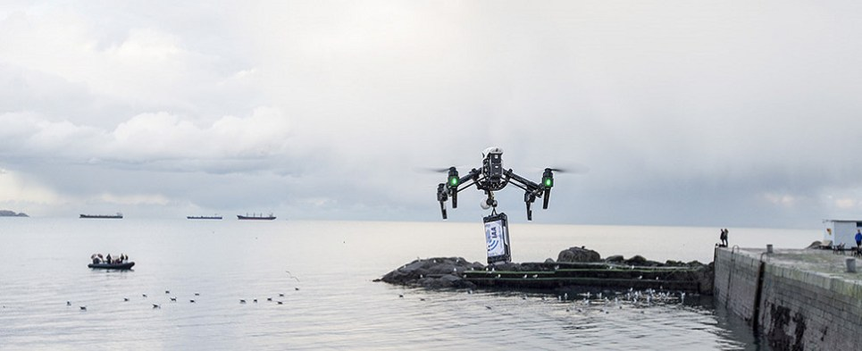 Drones are bieng used to deliver shipments of export cargo and import cargo in international trade.