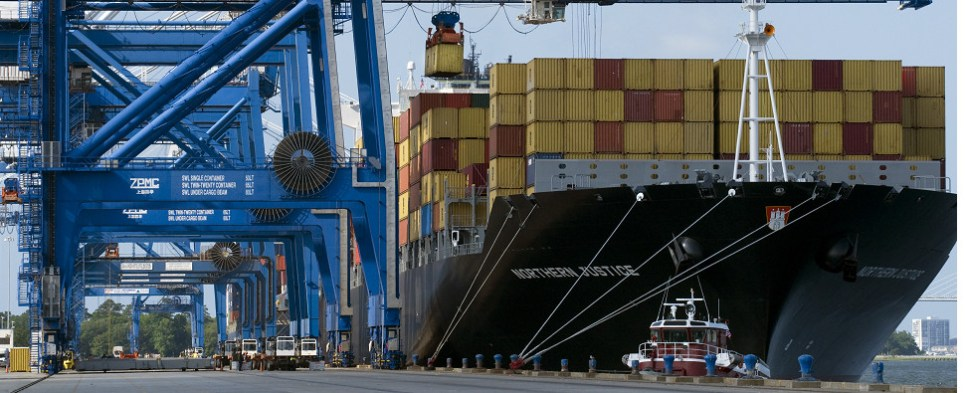 South Carolina ports are handling more shipments of export cargo and import cargo in international trade.