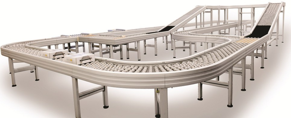 New conveyor systems for logisitcs centers that handle shipments of export cargo and import cargo in international trade.