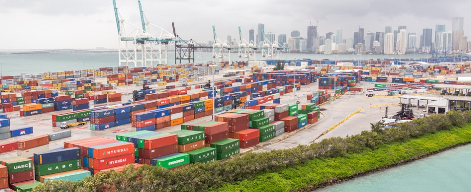 US ports will be handling more shipments of export cargo and import cargo in international trade.
