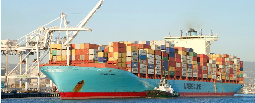 Maersk expects to be carrying more shipments of export cargo and import cargo in international trade.