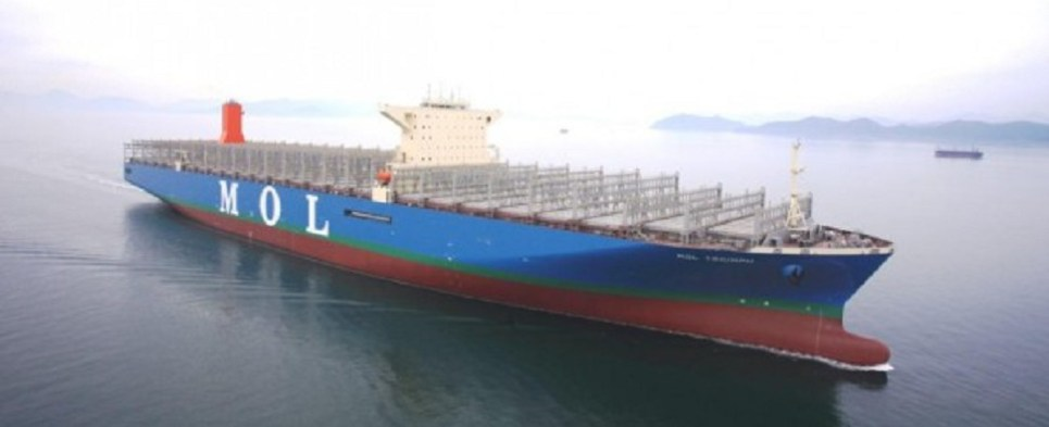 Larger ships can carry more shipments of export cargo and import cargo in international trade.