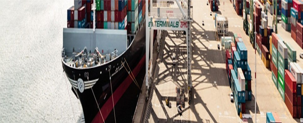 The port of Oakland is handling more shipments of export cargo and import cargo in international trade.