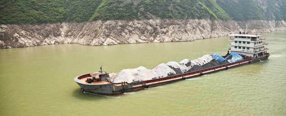 In the future China will require fewer coal shipments of export cargo and import cargo in international trade.