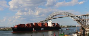 NYNJ's Maher Terminals Welcomes First Neopanamax to Sail Under New Bayonne Bridge