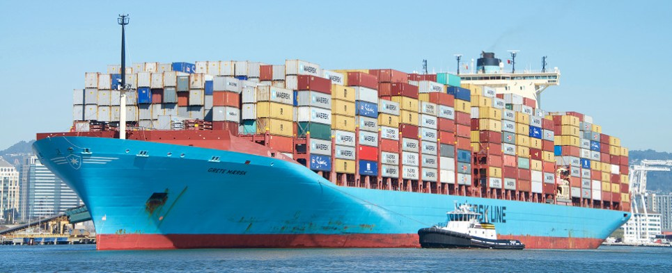 Maersk Line is still carrying shipments of export cargo and import cargo in international trade.