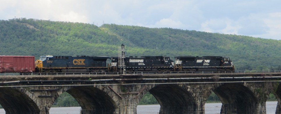 North American railroads are carrying more shipments of export cargo and import cargo in international trade this year.