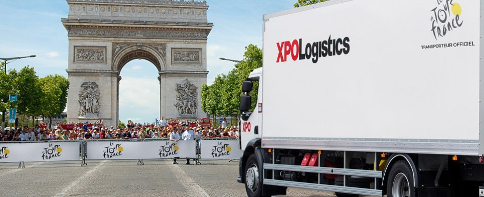 XPO carried shipments of export cargo and import cargo in international trade for the Tour de France.