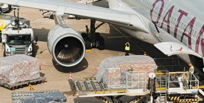 Qatar carriers shipments of export cargo and import cargo in international trade.
