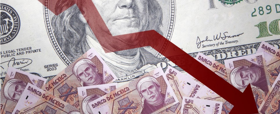 Lower peso means more Mexican shipments of export cargo and import cargo in international trade.