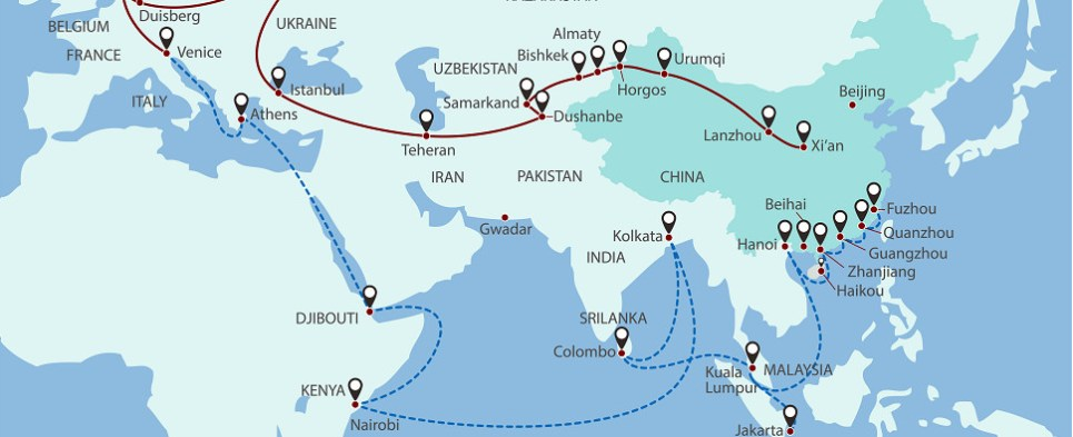 China initiative will allow infrastructure to handle more shipments of export cargo and import cargo in international trade.