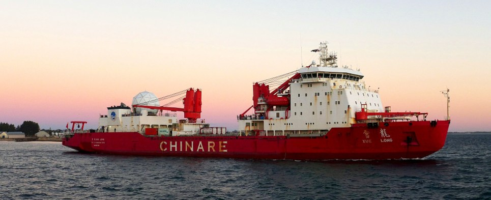 China testing Arctic for shipments of export cargo and import cargo in international trade.