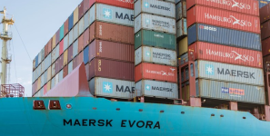 Lengthening of cranes allowed port of LA to handle more shipments of export cargo and import cargo in international trade.