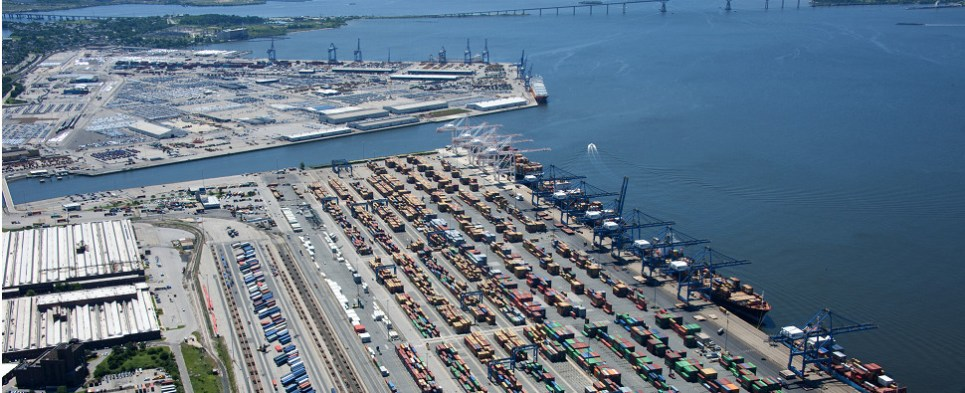 Saab will help port handle shipments of export cargo and import cargo in international trade.