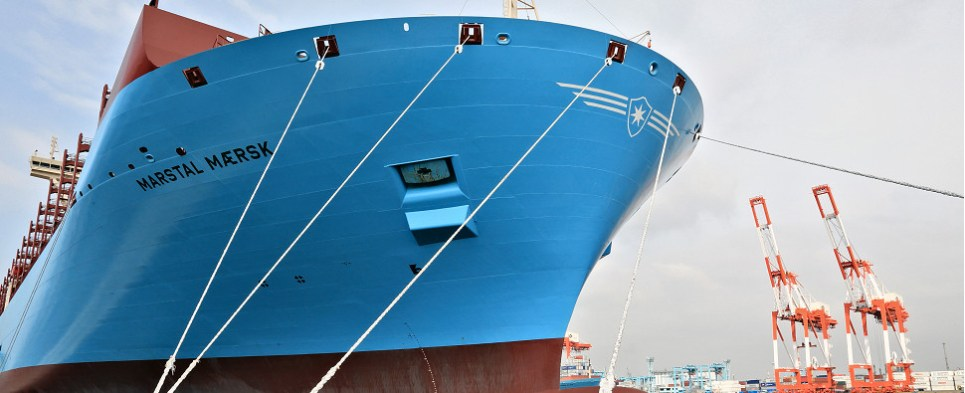 Larger ships carry more shipments of export cargo and import cargo in international trade.