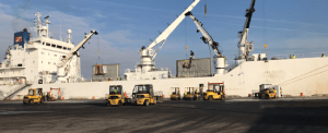 Season's First Chilean Fruit Vessel at Port Of Wilmington
