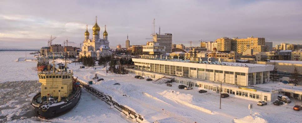 Russian port of Arkhangelsk will handle shipments of export cargo and import cargo in international trade.