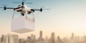 UAVs will be used to deliver shipments of export cargo and import cargo in international trade.
