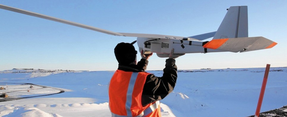 Using UAVs to deliver shipments of export cargo and import cargo in international trade.
