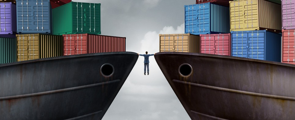 Tensions could jeopardize shipments of export cargo and import cargo in international trade.