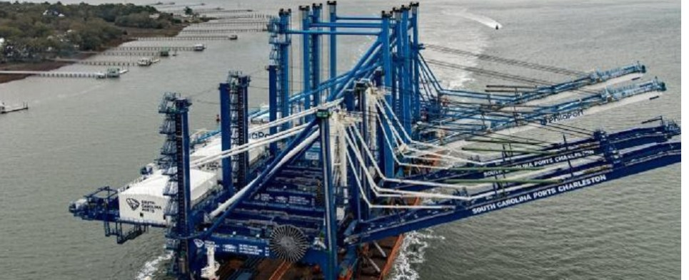New cranes will allow port to handle more shipments of export cargo and import cargo in international trade.