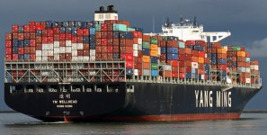Expanding ocean fleet is carrying more shipments of export cargo and import cargo in international trade.
