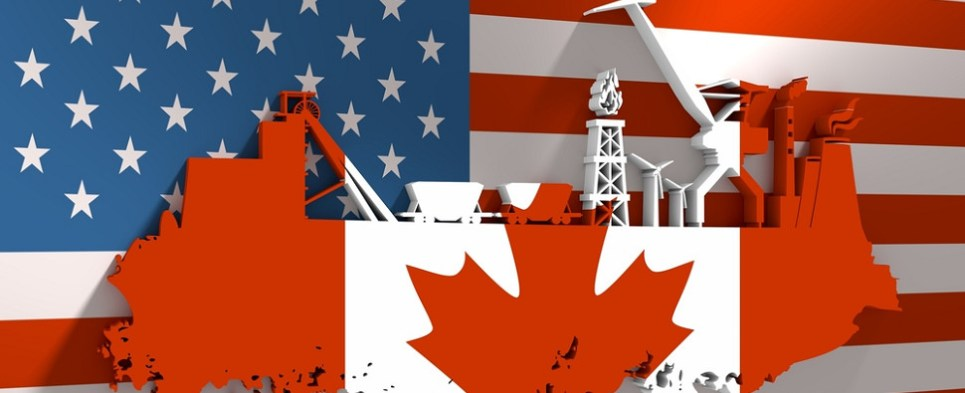 Analysis of US-Canada energy shipments of export cargo and import cargo in international trade.