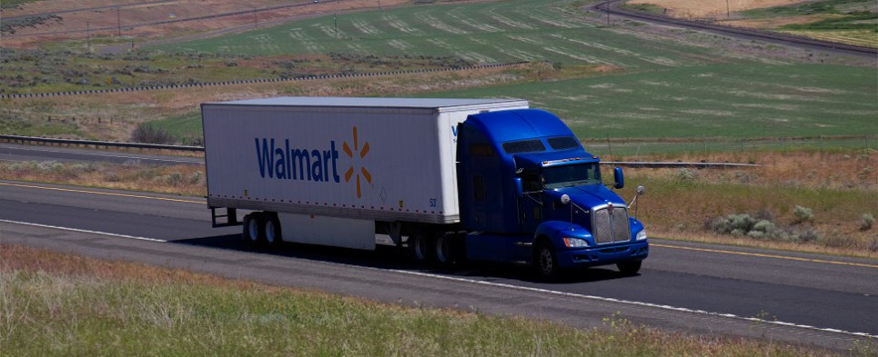 Walmart delivers shipments of export cargo and import cargo in international trade as a 3PL.