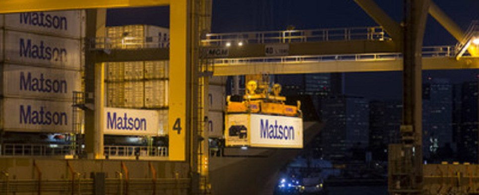 Matson delivered shipments of export cargo and import cargo in international trade in advance of hurricane.