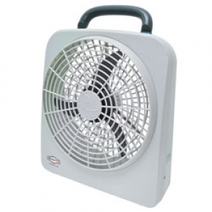 roadpro 12 volt or battery powered dual power portable high velocity 10 fan