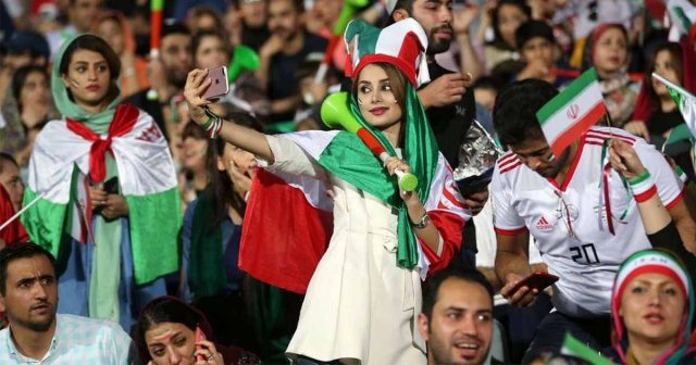 Image result for Iran: Women allowed to go to football stadium after 40 years