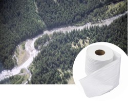 Some 500,000 acres of boreal forest in Ontario and Alberta alone -  key habitat for caribou, lynx, wolves and scores of birds - are felled each year to provide pulp for toilet paper, paper towels, paper tissues and other disposable household paper products