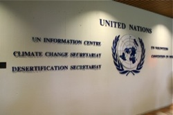 At the UNFCC headquarters in Bonn
