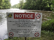 Sing warming of contamination of the Kalamazoo River