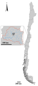 Figure 1. Maipo River basin, Chile
