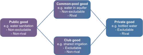 Figure 4. Water as a public and private good