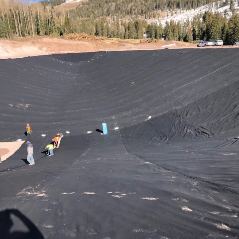 Snowmaking Pond, 45 mil RPE Liner - Picture 3