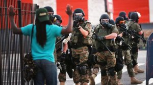 Police standoff in Ferguson
