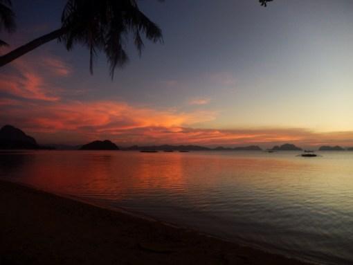 Coucher de Soleil à Corong Corong